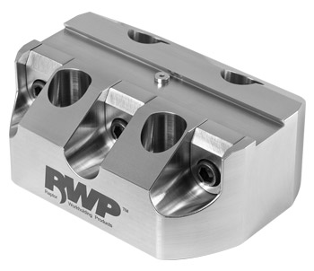 """Stainless Steel 0.75""""Dovetail Fixture  3.0"""" Dia. BC"""